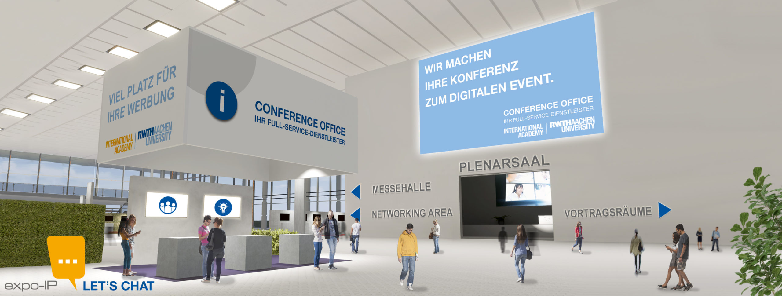 Digitale Konferenz RWTH International Academy Lobby